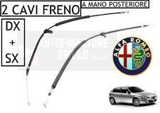 KIT 2 CAVI FUNI FRENO A MANO POSTERIORE SINISTRO + DESTRO ALFA ROMEO 147