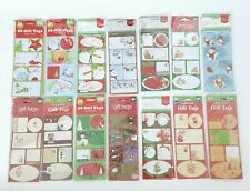 1068 Holiday Xmas Gift Tags Peel N' Stick Stickers Various Designs Bundle Lot 43