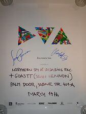SEAN LENNON SIGNED AUTOGRAPHED GHOST OF A SABER TOOTH TIGER CONCERT POSTER DVA