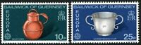 GUERNSEY 1976 EUROPA HANDICRAFTS PAIR OF COMMEMORATIVE STAMPS MNH (n)