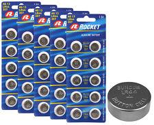 50x Rocket AG13/V13GA/357 Knopfzelle LR44 138mAh 1,5V 1,9g Alkaline Batterie