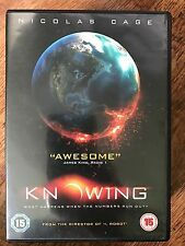Nicolas Cage Rose Byrne KNOWING ~ 2009 Action / Sci-Fi Disaster Film | UK DVD