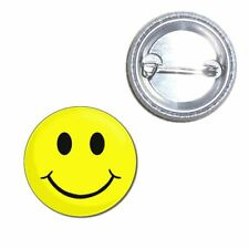 Smiley - Button Badge - Choice 25mm/55mm/77mm Novelty Fun BadgeBeast