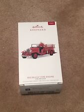 2018 Hallmark 1932 Buick Fire Engine Ornament New In Box