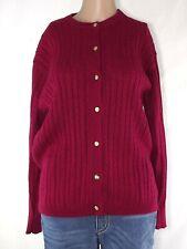 cardigan maglione donna rosso bordeaux lana taglia 4 xl extra large