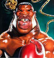 IRON MIKE TYSON Boxing HWT Champion Original Art 1987 Painting Sebastian KRUGER