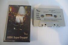 ABBA SUPER TROUPER K7 AUDIO TAPE CASSETTE FRENCH PRESS BOITIER VOGUE D'ORIGINE.
