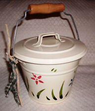 Flowered Pail Tin Music Box - Waltz Of The Flowers