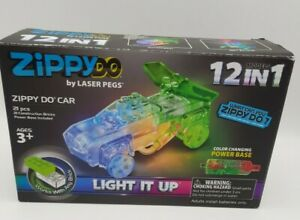 Laser Pegs Zippy Do 12 In 1 Zippy Do Car Light It Up 21pc Color Changing NEW