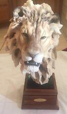 "Mill Creek Studios ""Lionheart"" Lion Sculpture Randall Reading - 24in tall 25lbs"