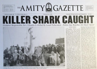 1975 Jaws Amity Island Gazette Killer Shark Caught > Print > Great White Shark🦈