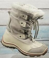 Pajar Canada Women's White Leather Lace Up Water Proof Winter Zip Boots Sz 8