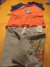 $32.00 Boys Splendid orange  shirt with  skull shorts 18-24   month A 57