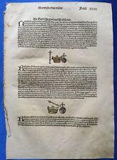 Altkoloriertes Blatt XVIII, Schedel Weltchronik 1493, Nürnberg, KRONE & ZEPTER