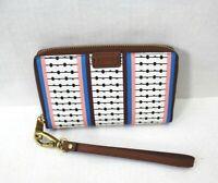 Fossil Emma Smartphone Bifold Zip Wallet Clutch Wristlet RFID Stripe Multicolors