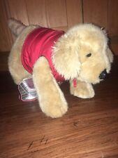 Build-A-Bear Golden Retriever Labrador Dog Brown With Gillet And Football Boots