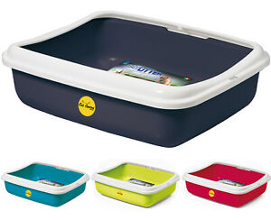Large Oval Cat or Kitten Litter Tray With Rim Toilet Pan Box Loo Deep CatCentre®