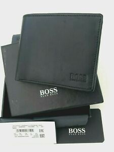 Hugo Boss Asolo, Mens Wallet Black Leather Wallet  coin pocket