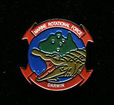 ROTATIONAL FORCE DARWIN US MARINES HAT VEST LAPEL PIN UP USMC VETERAN GIFT