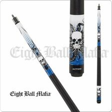 Eight Ball Mafia 2 Pc Billiard House Bar Cue Stick - Skull Octopus 18-21 OZ