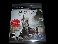 Replacement Case (NO GAME) ASSASSIN'S CREED III PLAYSTATION 3 PS3
