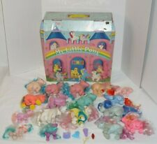 Vintage 1985  My Little Pony Collectors Carrying Case & Lot Of 17 Ponies G1 +
