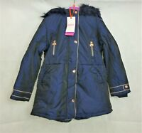 Baker By Ted Baker Girls Navy Hooded Parka Age 8 Years rrp £68 CR091 EE 14