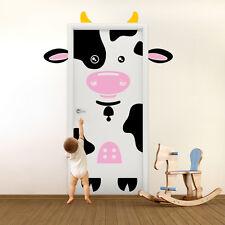 01412 Wall Stickers Adesivi Murali Porta bambini decoro Mucca 80x210 cm