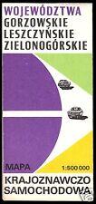 Verkehrskarte, Wojewodschaften Gorzow, Leszno u. Zielona Gora, 1976