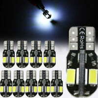 10 x Canbus T10 194 168 W5W 5630 8 LED SMD White Car Side Wedge Light Lamp Bulb