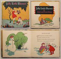 E. & F. Owen Jolly Little Rhymes 1929 engl. Reime Gedichte illustriert xy