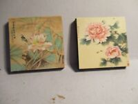 2 DOLLS HOUSE MINIATURE PICTURES HNCC