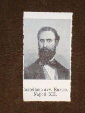 Deputato nel 1861 Enrico Castellano di Napoli e Vincenzo Salvagnoli di Firenze