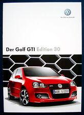 Prospekt brochure Volkswagen VW Golf GTI Edition 30  (D, 2007)