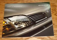 Original 2001 Oldsmobile Silhouette Deluxe Sales Brochure 01