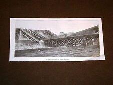 Guerra Europa 1914 Ponte ferrovia Namur Belgio + Bordeaux + Leopoli Galizia