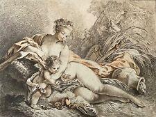L'hiver Jean-Baptiste Huet graveur Duruisseau C 1780  France aquatinte