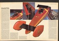 1972 Dragster of the Future 4 Page Centerfold Article Barry Setzer Top Fuel