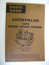1964 CATERPILLAR 1673 DIESEL TRUCK ENGINE 83B1-UP PARTS BOOK