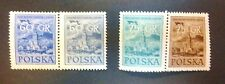POLAND STAMPS MNH 1Fi788-9a+b Sc695-8 Mi930-3 - Palace of Culture in Warsaw,1955