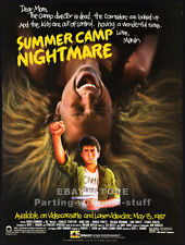 SUMMER CAMP NIGHTMARE__Original 1987 Print AD / video movie promo__CHUCK CONNERS