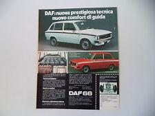 advertising Pubblicità 1973 DAF 66 MARATHON STATIONCAR/BERLINA