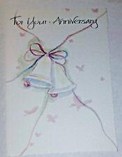 1 Anniversary Greeting Card/Envelope Bells Happy Love Joy Dreams Life Sharing