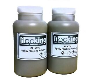 Epoxy Adhesive Flocking 2 Part Flocking Epoxy 750 G Set Approx THREE SQM Flocked
