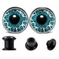 Eyes Acrylic Screw Flesh Tunnel Ear Plug Expander Gauge Piercing Jewelry 6-14mm