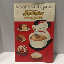 Vintage 1957 Sunbeam MixMaster Deluxe Use and Care Recipe Book
