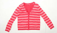 Gap Womens Size M Striped Wool Blend Pink Cardigan (Regular)