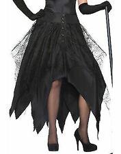 Womens Black Witch Skirt Mystical Masquerade Spirit Spooky Adult Size Standard