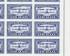 US Sc 5281 MNH. 2018 blue AIR MAIL forever sheet with printing/plate faults, VF