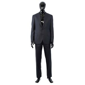 BRIONI 5700$ Navy Blue Madison Suit From Super 160s Virgin Wool